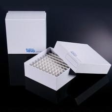 Krabička pro uskladnění vzorků včetně mřížky, kartón, pro 100 zkumavek - 2 velikosti (BIOLOGIX)
