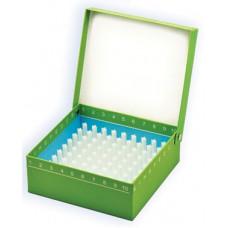 Krabičky ID-Color pro uskladnění vzorků včetně plastové mřížky, pro 100 zkumavek, 5 ks (BIOLOGIX)