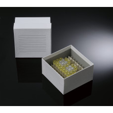100-well, 3-in Super White Coated Cardboard Freezer Boxes