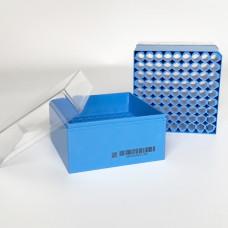 CryoKING krabička na 81 zkumavek – 3,75 inch, modrá, Scan-Ready, 3 ks