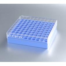 CryoKING krabička na 100 zkumavek – 1 inch, modrá, Scan-Ready, 3 ks