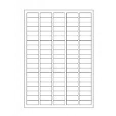 Štítky pro laserovou tiskárnu - 36 mm x 14 mm, bílé, 1 600 ks