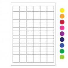 Štítky pro laserovou tiskárnu - 31.5 mm x 12.7 mm, různé barvy, 2 016 ks