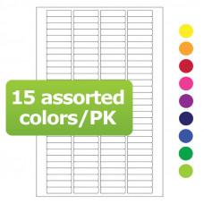 Štítky 20 mm x 5.1 mm, pro laserovou tiskárnu, pro 0,2 PCR zkumavky, směs barev, 1740 ks