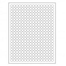 Štítky kruhové pro laserovou tiskárnu - ⌀ 11 mm, různé barvy, 5 280 ks