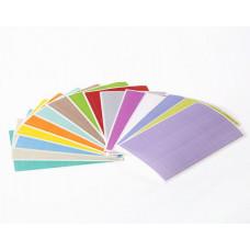 Štítky 26 mm x 10 mm, pro 1,5 ml zkumavky, různé barvy, 1 260 ks