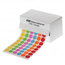 Štítky ⌀ 13 mm, v roli, pro 1,5 ml zkumavky, mix barev, 5040 ks