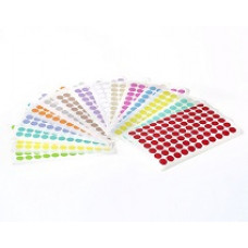 Štítky kruhové ⌀ 11 mm, pro 1,5 ml zkumavky, různé barvy, 1 386 ks