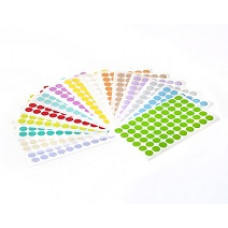 Štítky kruhové ⌀13 mm, pro 1,5 ml zkumavky, různé barvy, 1 260 ks