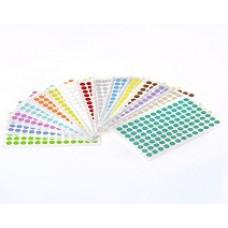 Štítky kruhové ⌀ 9 mm, pro 0,5/1,5 ml zkumavky, různé barvy, 1 560 ks