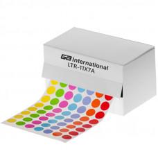 Štítky ⌀ 11 mm, v roli, pro 1,5 ml zkumavky, mix barev, 5236 ks