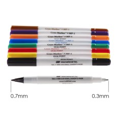 Dual point cryogenic water-resistant marker, 8 pcs, assorted color