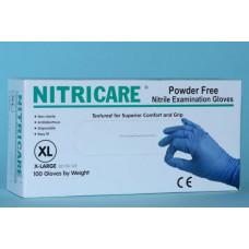 Vyšetřovací rukavice nitrilové, bez pudru - Nitricare, 100 ks