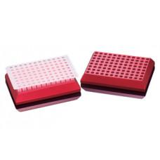 Chladící blok, 96 jamek, červený, nesterilní, 1 ks, Sorenson