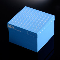 81-well, , 3.75-in ID-Color™ Cardboard Freezer Boxes, for 5 ml tubes, 5 pcs.