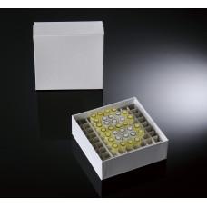 81-well, 2-in Plasti-Coat™ Cardboard Freezer Boxes