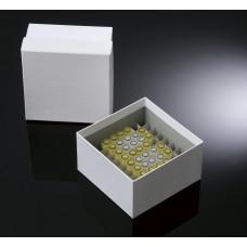81-well, 3-in Plasti-Coat™ Cardboard Freezer Boxes
