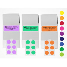 "Cryogenic color dots 0.35""/9 mm, 0.44""/11 mm, 0.5"" / 13 mm 1,100/roll"